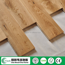natural color oak smooth surface solid wood floor with Character