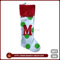 Hot sell custom Christmas item decoration polyester felt cheap socks wholesale price