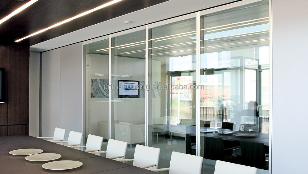 Home living room glass folding partition wall