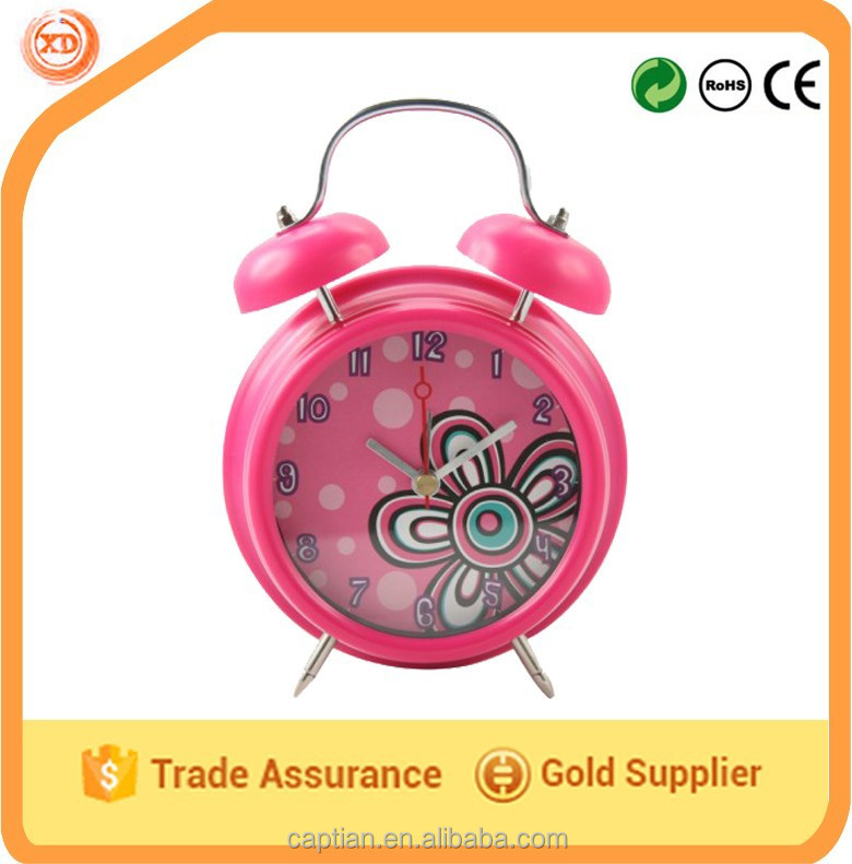 customizable classic metal twin bell table alarm clock