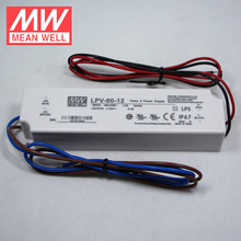 Mean Well 60W LED Driver LPV-60-12 IP67 Waterproof Slim LED Power Supply 12V 5A