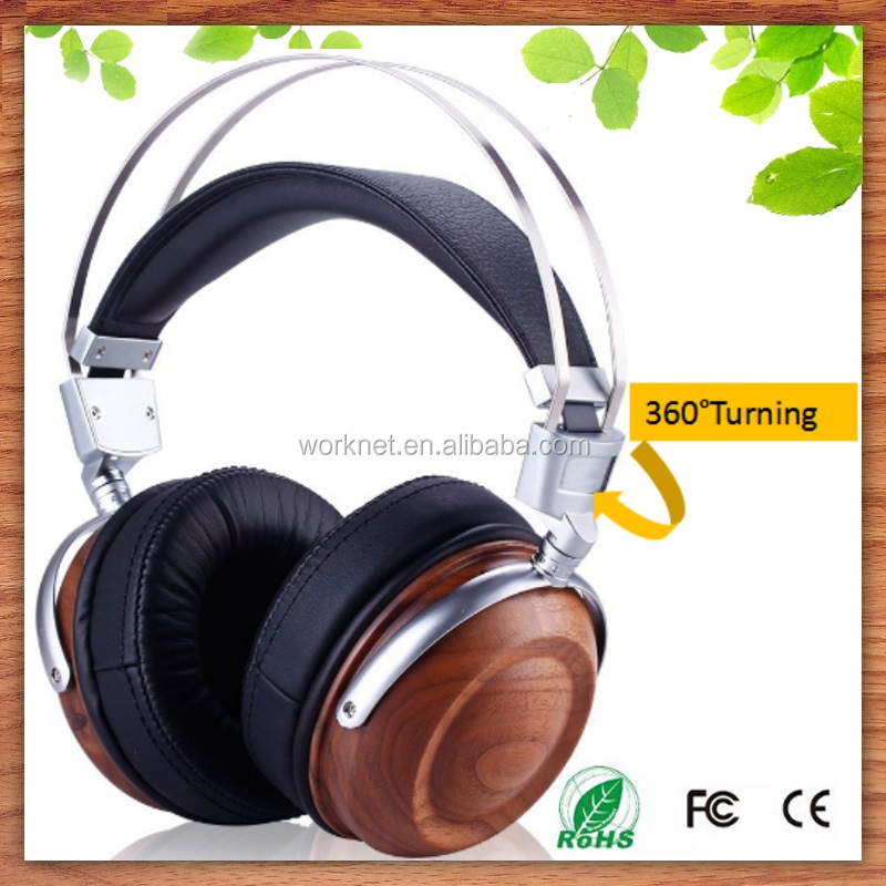 buy bulk <strong>electronics</strong> high quality wooden headphone with microphone