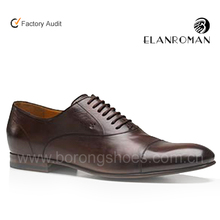 Dark brown color elevator dress leather shoe office height increase leather shoes for men