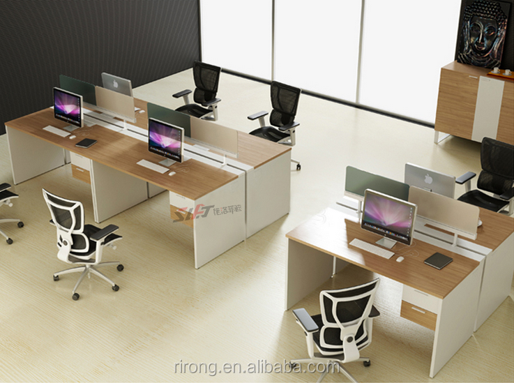 Economic 4 seats melamine office desk