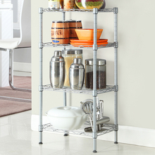 XM_207A 4 tier storage rack OEM production metal chrome wire shelf