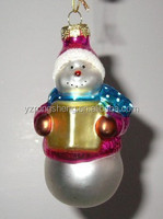 wholesale hand blown glass christmas tree decoration