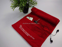 Gym towel with zip pocket