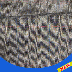 Worsted wool fabric for suit
