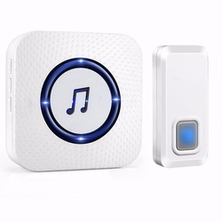 NURBENN 55 ringtones easy to DIY self powered wireless funny doorbell with no battery required receiver