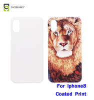 four corners close type new plastic material case sublimation whole around for iphone8