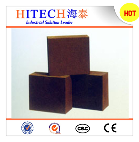 Hot selling Zibo Hitech fused chrome magnesia refractory brick with high thermal shock resistance