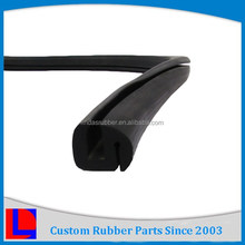 Custom design extruded profile high tensile strength black rubber hinge strip