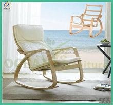2014 new ikea style colorful printed cheap bentwood birch rocking chair