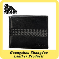 Custom Leather Products Black Wallet Leather Case with Texture