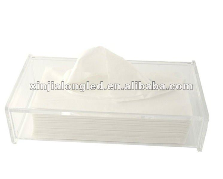 Up Open Clear Acrylic Removable Tissue Box Acrylic Napkin Dispenser Box