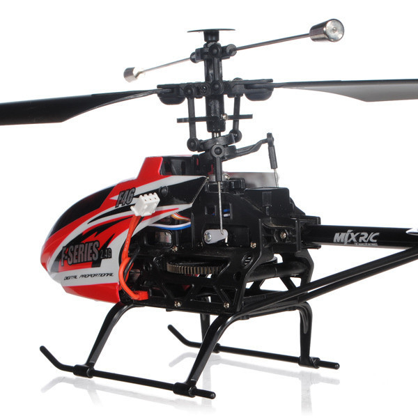 "10"" MJX F-series F646 Shuttle 2.4G Single blade 4CH With Servo RC Helicopter HF46 Red"