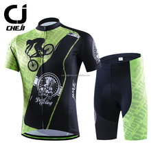 CheJi roupa ciclismo Quick Dry Anti-UV Men Cycling Jersey Shorts Set Custom Cycling Wear Unisex Breathable Outdoor <strong>Sportswear</strong>