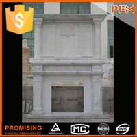 Indoor Used Hand Carved electrical stone fireplace