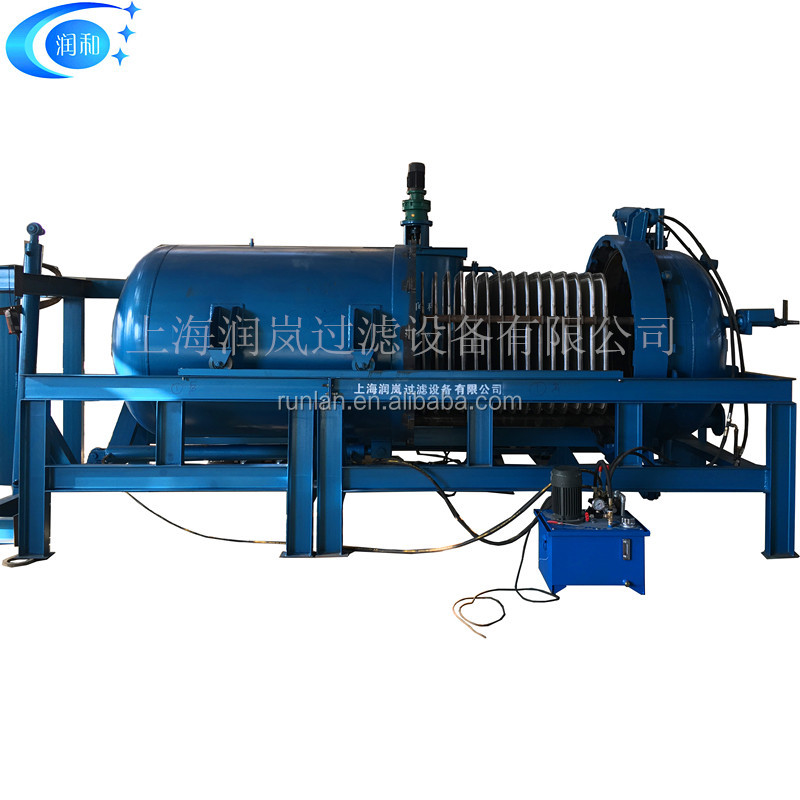 High efficiency WBF leaf filters horizontal plate filter for oil/chemicals/food industry