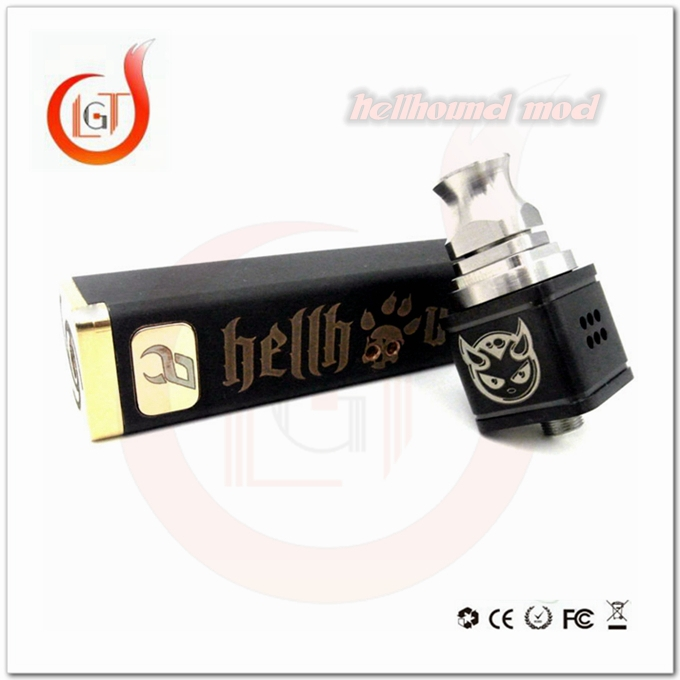 2015 new vape mod e-cig mod rebuildable atomzier Hellhound mechanical clone mod with copper metarial hell hound