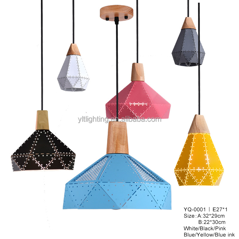 6 Colors Vintage Iron Lamp Led Indoor Light Hanging Lamps Living Room Retro Pendant Lights Industrial Hanging Light Pendant Lamp