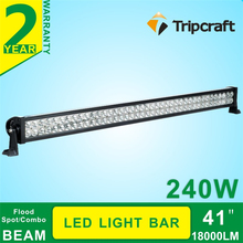 2016 Car accessory crees 41 inch 240w led light bar for cars,truck,engineering