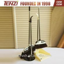 enclosed dustbin style designed broom and dustpan long handle stainless steel brush with dustpan