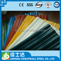 corrugated metal sheets /galvanized steel roof truss / color coated galvalume sheet for walls