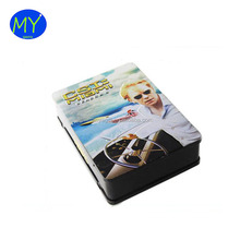 Cheap price rectangular metal tin DVD case / tin CD holder / metal CD box for home use