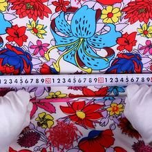 High Quality Hot sale flower print fabric wholesale baby cotton interlock knit fabric from china suppliers