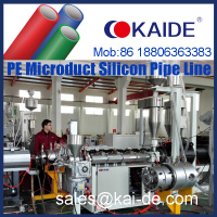 HDPE PE Micro duct silicone tube making machine/production line