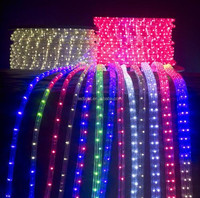 Christmas outdoor high quality LED Round 3wires Rope light