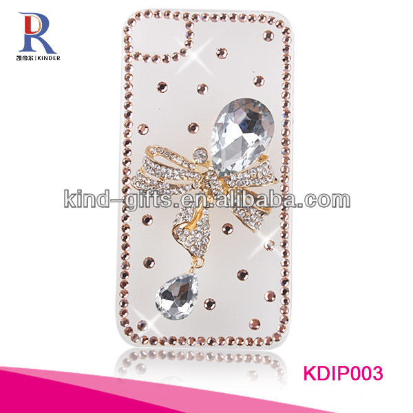 Bling crown and heart rhinestone case for iphone 5