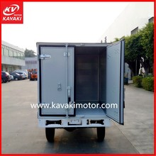 2015 New Style KAVAKI Motor Tricycle Brand Cargo Tricycle With Enclosed Rear Cabin