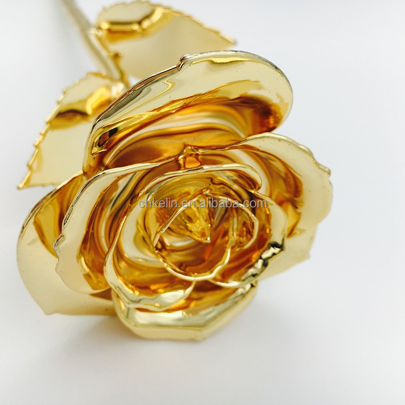 27cm 24K Gold Foil Production Gift The imitation Rose for someone Special