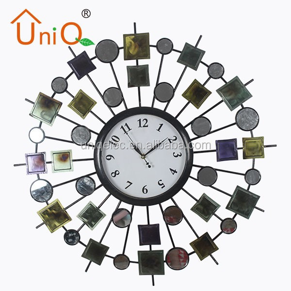 Large luxury home decor metal wall clock