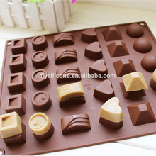 2017 fashion silicone christmas chocolate tray gift chocolate silicone mold