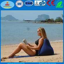 Inflatable wedge beach back pillow, Inflatable wedge back support cushion