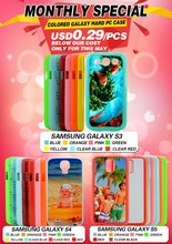 Monthly special Colored hard plastic sublimation cases for Samsung S3/S4/S5