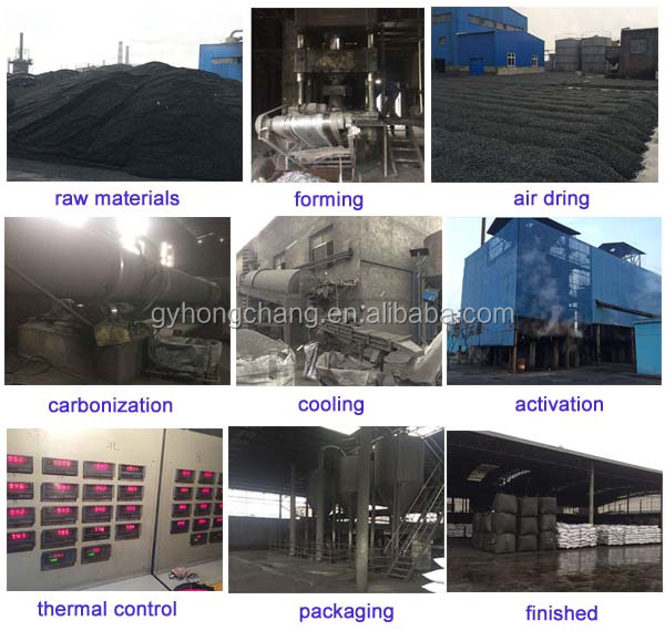 coal based cylindrical activated carbon for removal H2S