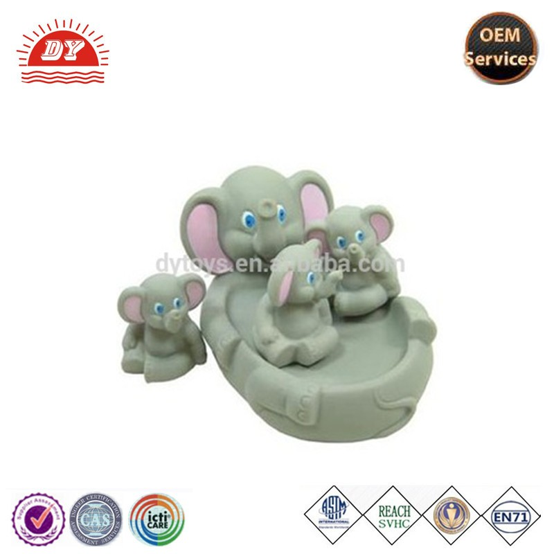 ICTI certificated custom made squeaky elephant animal toys set