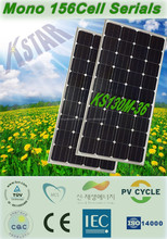 mono Kingstar solar panel 130w for 100KW home power system/China good price mono 130w panel solar 18V with CE TUV certificates