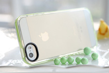 rock brand pc frame clear tpu case for iphone 5 / 5s / se, for iphone tpu case