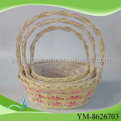 top quality small honey willow wicker new design willow garden basket