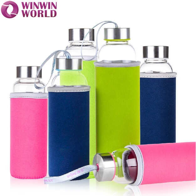 Personalized Transparent Heat Resistant Glass Bottle 500ml