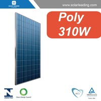 TUV certified 310W poly solar panel, with high efficiency A grade solar cell