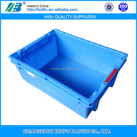 folding and collapsible plastic egg and milk crates for warehouse storage fruits and vegetables