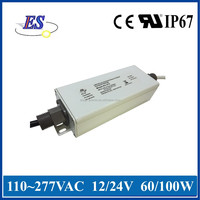 60W 12V 5A High Power Constant Voltage Dimmable LED Driver with 1-10V Dimming , UL CE IP67