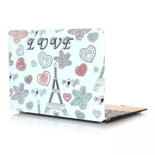 Love pattern cute design fashion OEM hard pc tablet case for macbook 12''