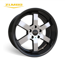 "ZUMBO S0059 Black face machined Tornado Aluminum Hub scooter 17"" alloy wheel rim 2017 alloy wheels for sale new design car"